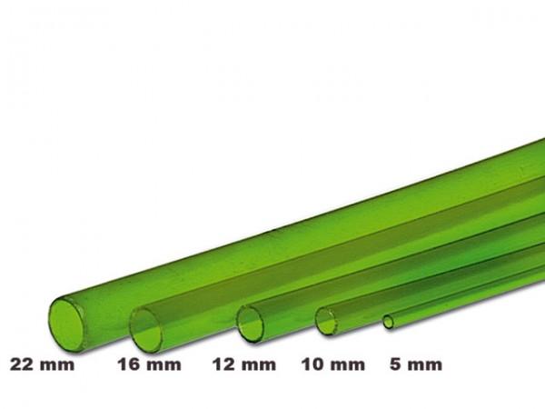 PVC-Rohr grün transparent