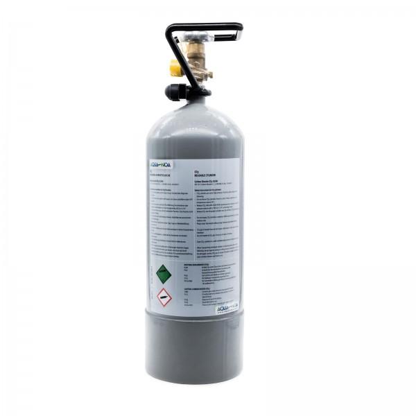 Kohlensäure / CO2 - Mehrwegflasche mit Schutzcage 3000 g