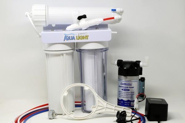 """Osmoseanlage mit Druckerhöhungspumpe - große 10"""" Vorfilter"""