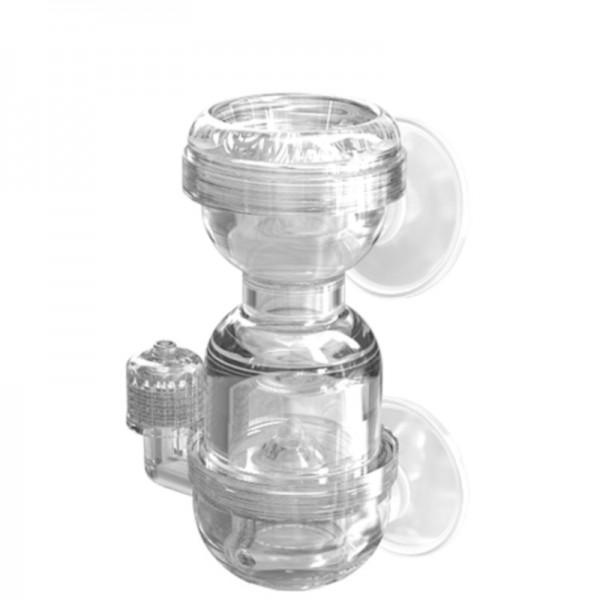 CO2 - Diffusor mit integriertem Blasenzähler und Rückschlagventil