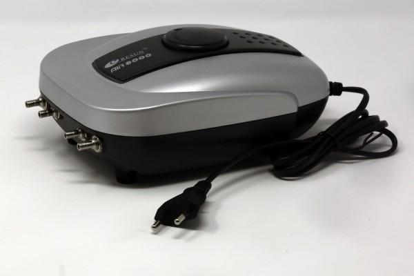 Durchlüfter - Membranpumpe RESUN Air 8000, 640 l/h, nur 8 Watt Aufnahmeleistung